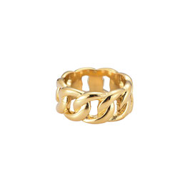 """Ring """"Wide Lock"""" gold"""