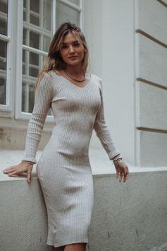 """Long Knit dress """"beige"""""""