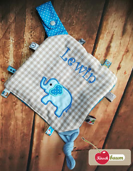 "Knistertuch mit Namen ""Elefant"""