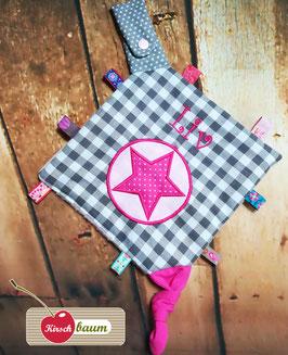 "Knistertuch mit Namen ""pink/rosa"""