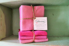Solwang Wischtücher 3er-Set Pinkmix