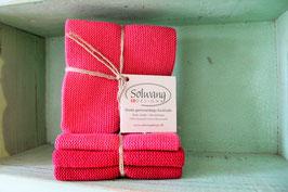 Solwang Wischtuch 3er-Set Rot-Kombi