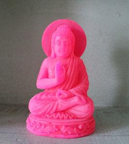 Meditierender Buddha Neonpink mit Shea-Butter