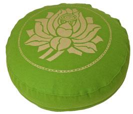 """Lotusblüte"" kiwi Meditations-kissen Gr. S"
