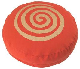 """""""Spirale"""" dunkelorange Meditationskissen Gr. S"""