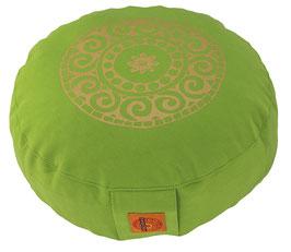 """""""Mandala"""" apfelgrün Meditationskissen Gr. S"""