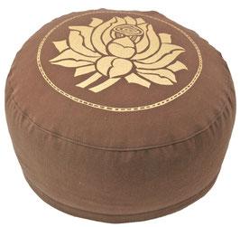"""""""Lotusblüte"""" braun Meditationskissen Gr. M"""