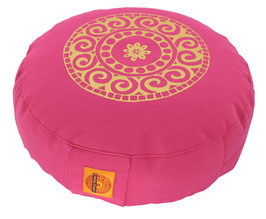 """""""Mandala"""" pink Meditationskissen Gr. S"""