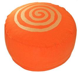 """""""Spirale"""" orange Meditationskissen Gr. M"""
