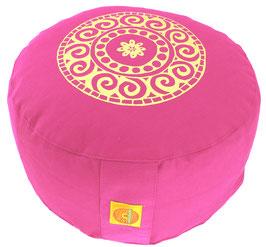 """""""Mandala"""" pink Meditationskissen Gr. M"""
