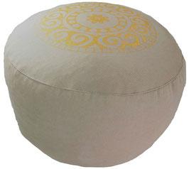 """Mandala"" beige Meditationskissen Gr. M"