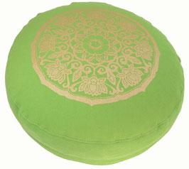 """Lotuskreis"" apfelgrün Meditationskissen Gr. S"