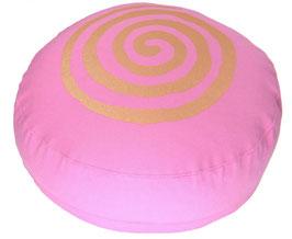 """Spirale"" rosa Meditationskissen Gr. S"