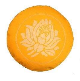 """""""Lotusblüte"""" sonnengelb Meditationskissen Gr. S"""