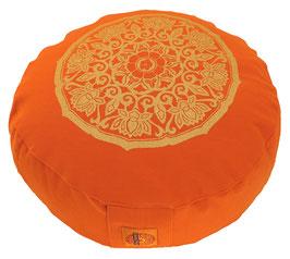 """""""Lotuskreis"""" orange Meditationskissen Gr. S"""
