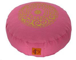 """""""Mandala"""" rosa Meditationskissen Gr. S"""
