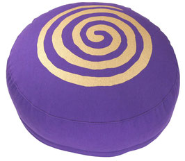 """Spirale"" lila Meditationskissen Gr. S"