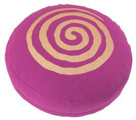 """""""Spirale"""" rotviolett Meditationskissen Gr. S"""