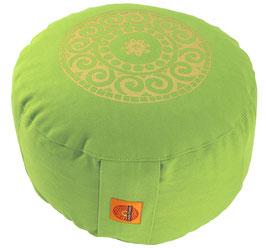 """""""Mandala"""" apfelgrün Meditationskissen Gr. M"""