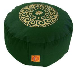 """Mandala"" dunkelgrün Meditationskissen Gr. M"