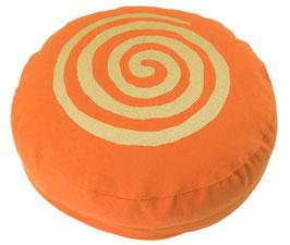 """""""Spirale"""" orange Meditationskissen Gr. S"""