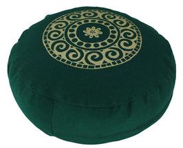 """Mandala"" dunkelgrün Meditationskissen Gr. S"