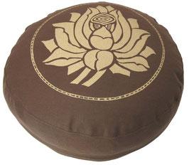"""""""Lotusblüte"""" braun Meditationskissen Gr. S"""