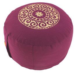 """Mandala"" aubergine Meditationskissen Gr. M"