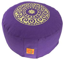 """Mandala"" lila Meditationskissen Gr. M"