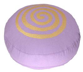 """Spirale"" fliederlila Meditationskissen Gr. S"
