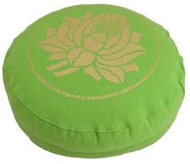 """""""Lotusblüte"""" apfelgrün Meditationskissen Gr. S"""
