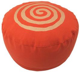 """Spirale"" dunkelorange Meditationskissen Gr. M"