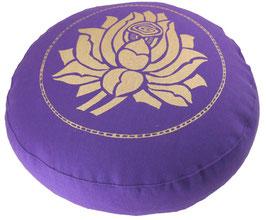 """""""Lotusblüte"""" lila Meditationskissen Gr. S"""