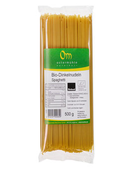Dinkel Nudeln hell (Bio) Bioland -Spaghetti