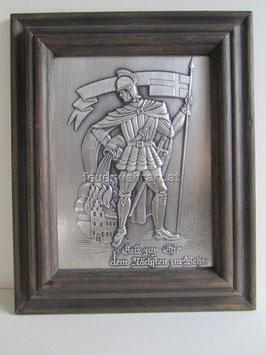 Florian mit echter Zinntafel 21,5 x 26,5 cm