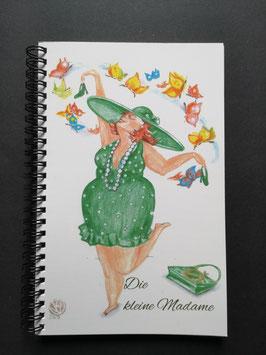 Notizbuch von Madame für Madame,  A5,  innen blanko weiß