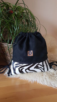 "Turnbeutel ""Zebra"" Zipper"
