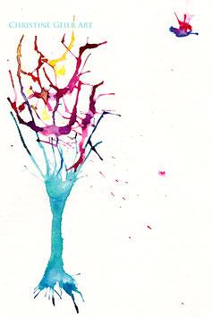 Baum mit Vogel