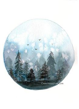 Waldwelt blau