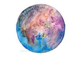 Blütenmond bunt