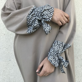 Abaya manche motif