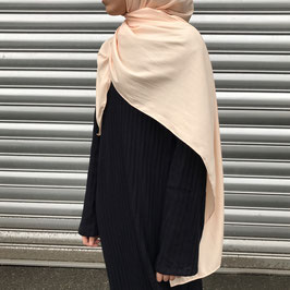 Hijab maxi crêpe rosé