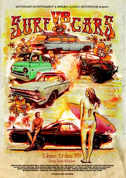 Poster V8 Surf Cars
