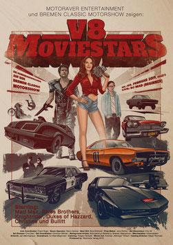 Poster V8 Moviestars