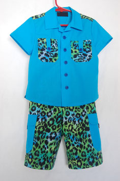 Handcrafted  - Leopard SUIT  for Boys 3 (three) YEARS