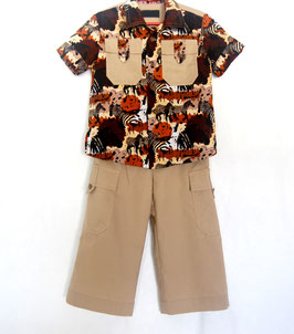 Handcrafted  - SAFARI SUIT  for Boys 4 (four) YEARS