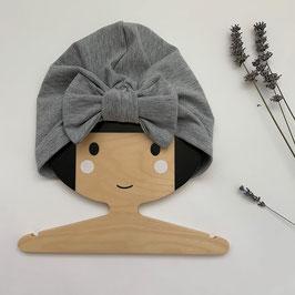 Turban mit Schleife Hellgrau