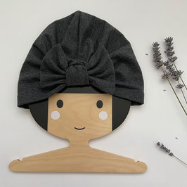 Turban mit Schleife Anthrazit