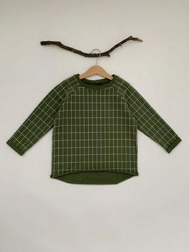 Raglan Sweater Oversize Raster Grün