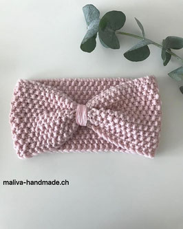 Strickhaarband Rosa